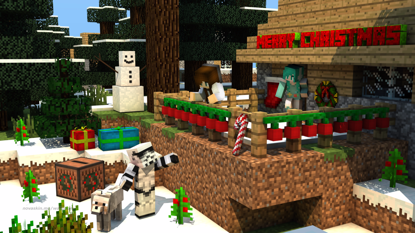 Beautiful Wallpaper Minecraft Christmas - 53e12e6259152d5c450ab03d4e844ac9  Picture_74421.png