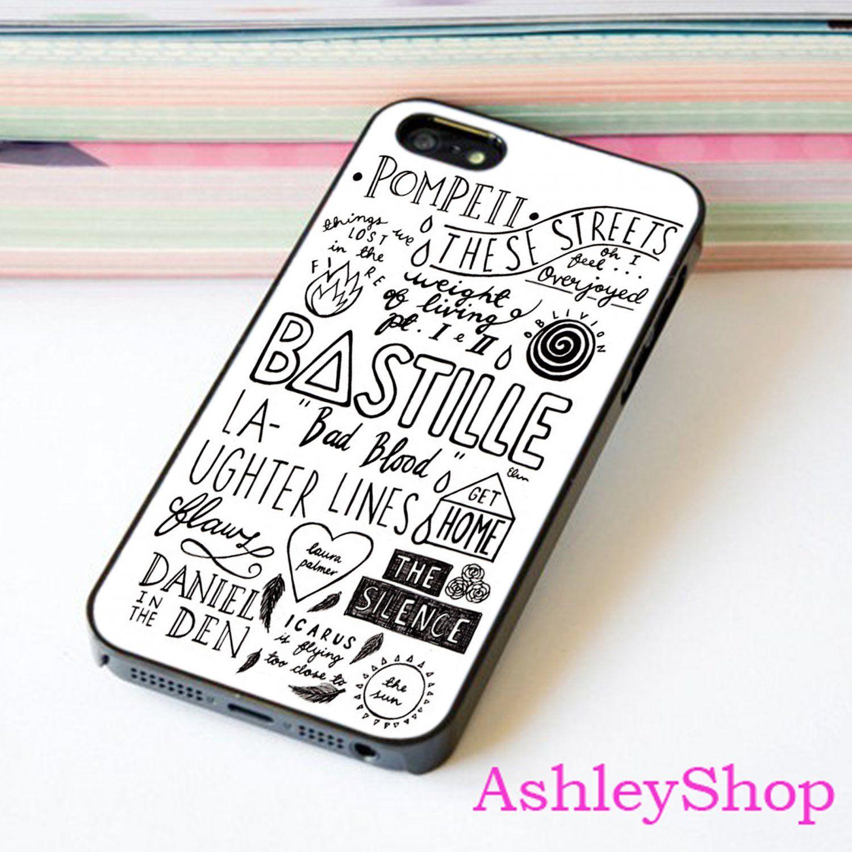 Bastille Lyrics Custom Case For iPhone 4/4s/5s/5c/6/6+/S3/S4/S5/S6 - Default iPhone 5/5s Case