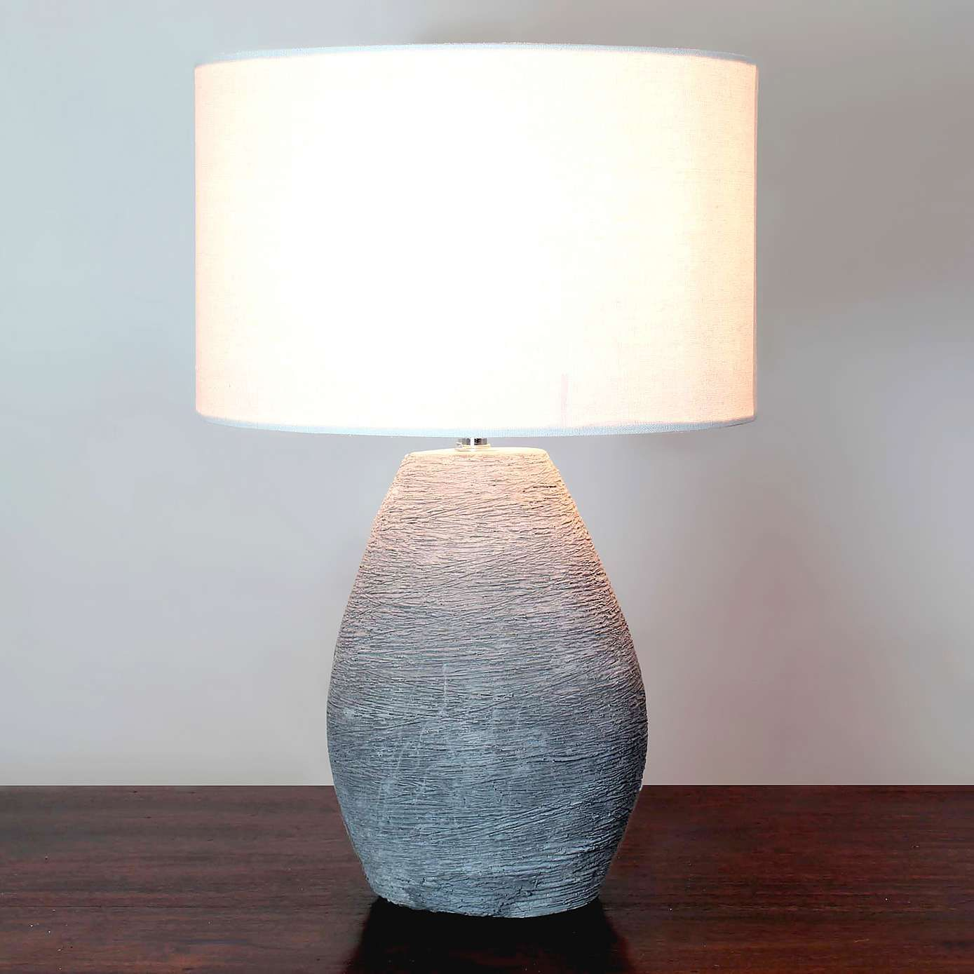 Robyn Concrete Table Lamp Dunelm Living Room Bedside