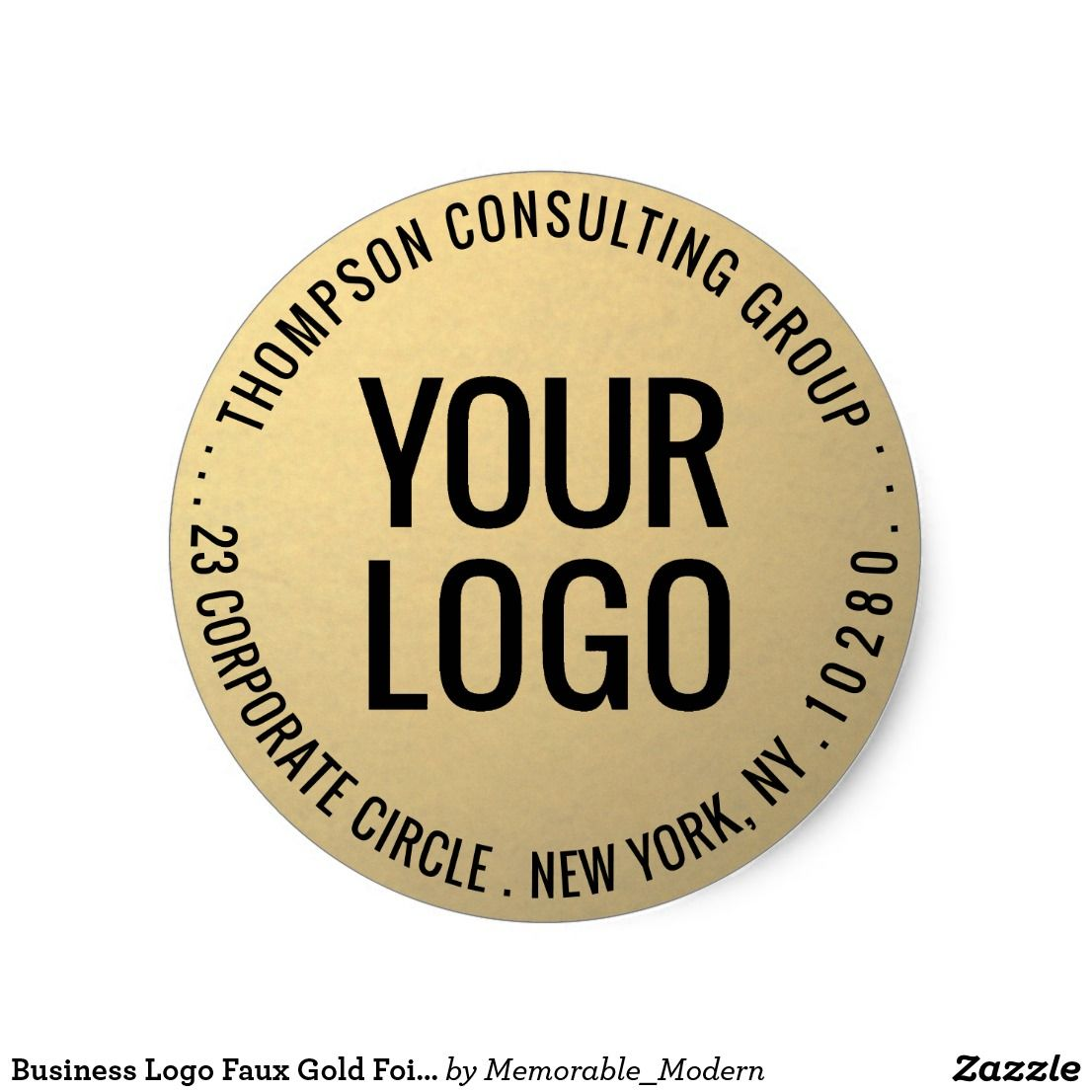 business logo faux gold