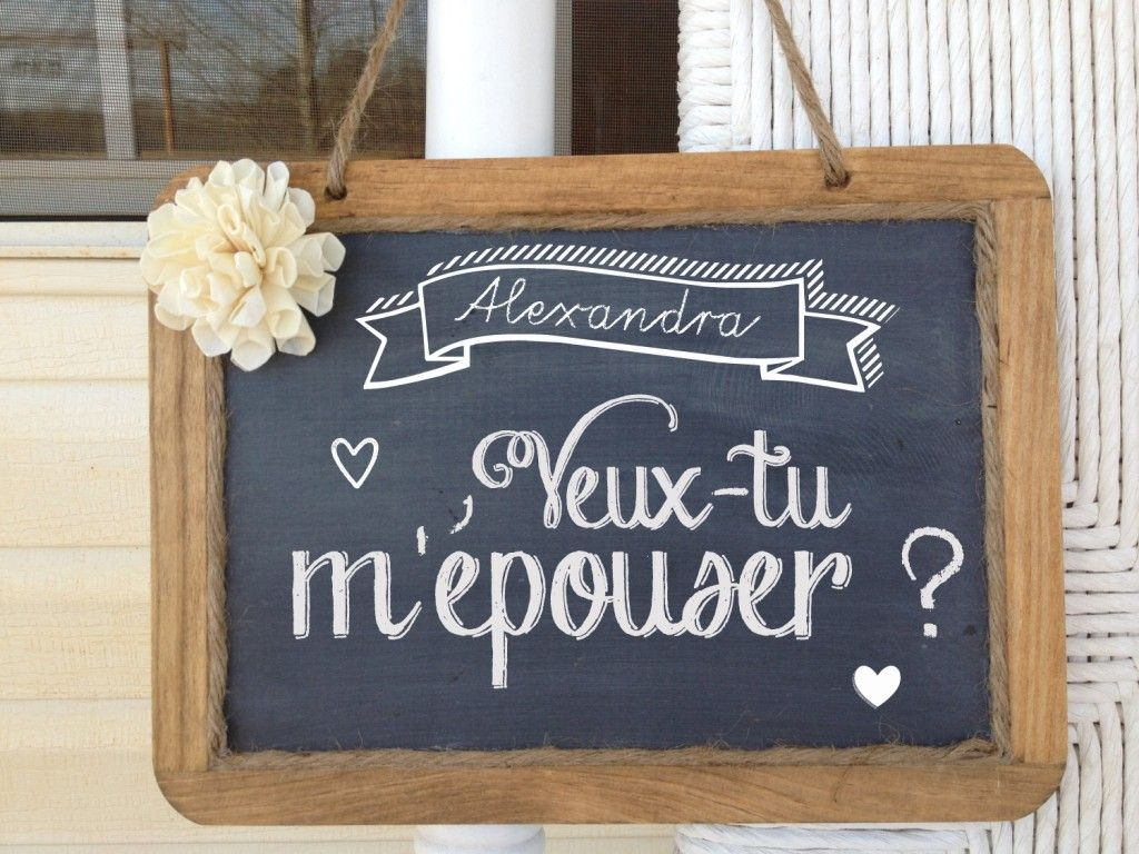 tableau demande en mariage ardoise mariage pourquoi pas pinterest wedding. Black Bedroom Furniture Sets. Home Design Ideas