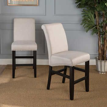 Cory 26 Barstool 2 Pack Fabric Bar Stools Fabric Dining Chairs