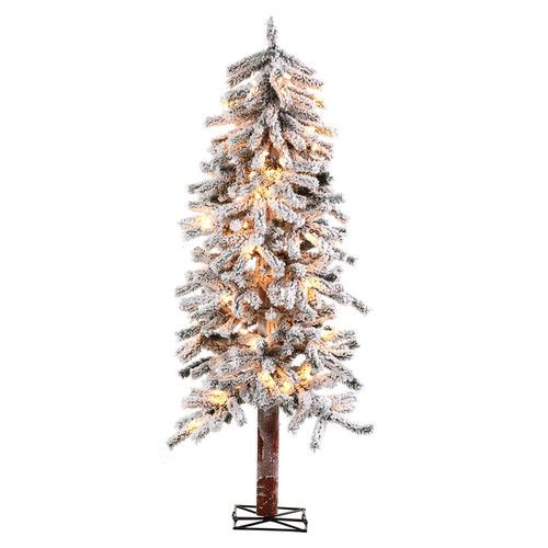 Frosted Slim Christmas Tree: Sterling Inc. 6' Alpine Christmas Tree With 150 Clear