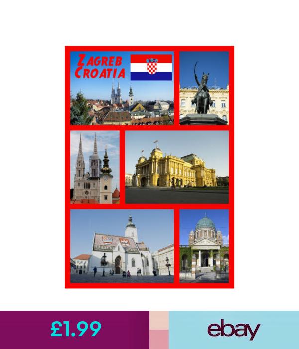 Zagreb Croatia Souvenir Novelty Fridge Magnet Sights Flag New Gifts Zagreb Souvenir Ebay