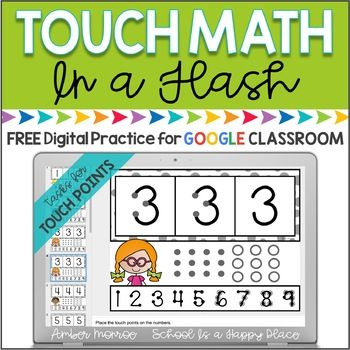 Touch Math In A Flash Touch Point Placement Free Digital Practice For Google Classroom Is A Low Prep Way Fo Touch Math Touch Math Worksheets Math Worksheets