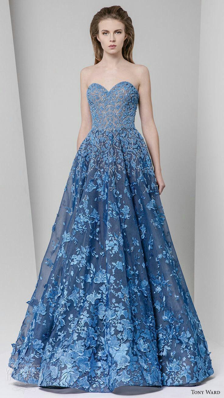 Blue Bridal Attire\