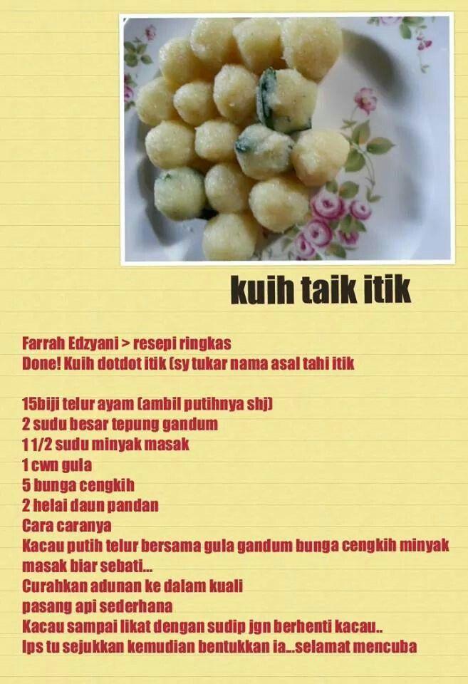 Kuih Taik Itik Recipes Delicious Delicacy