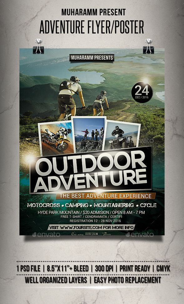 Adventure Flyer Poster By Muharamm Adventure Flyer Templates Or