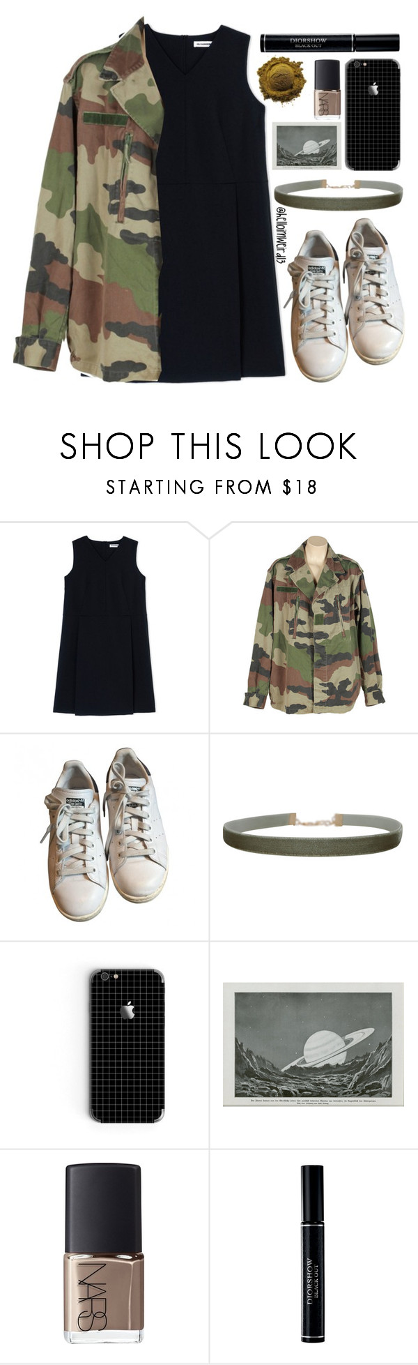 """sparks will fly"" by helloimweird13 ❤ liked on Polyvore featuring Jil Sander, adidas, Humble Chic, NARS Cosmetics and Christian Dior"