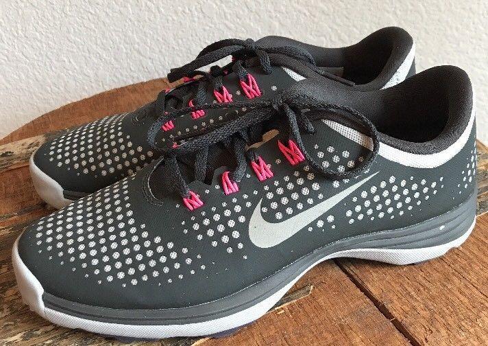 fa14a55a42b2 Nike Women s Lunar Empress Gray Silver Pink Golf Shoe Size 7.5 US   628537-001