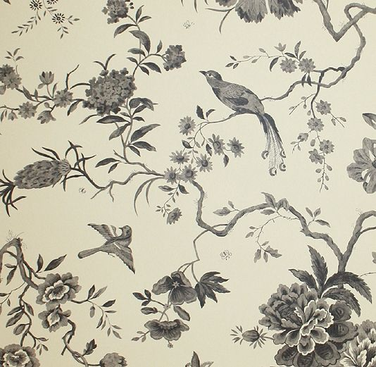 love toile de jouy wall paper pinterest papier peint toile y tapisserie. Black Bedroom Furniture Sets. Home Design Ideas