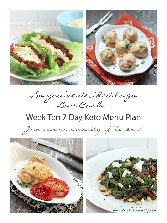 Week Ten 7 Day Keto (Low Carb) Menu Plan   Keto menu plan ...