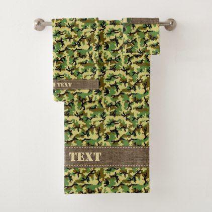Woodland Camouflage Bath Towel Set Zazzle Com Towel Set Bath