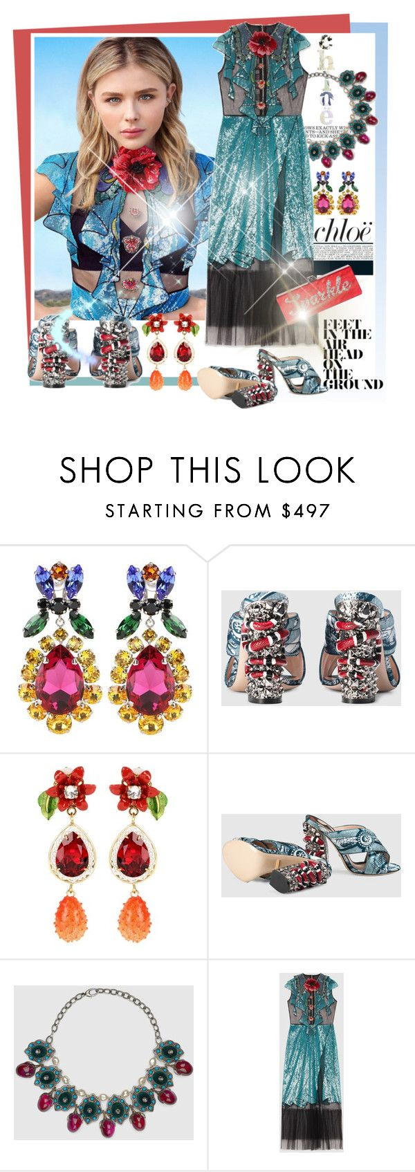 """""""Shine & Sparkle"""" by sylandrya ❤ liked on Polyvore featuring Miu Miu, Chloé, Dolce&Gabbana and Edie Parker"""