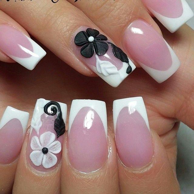 Punta blanca. #lindas | Uñas | Pinterest | Pintura de uñas, Uñas ...