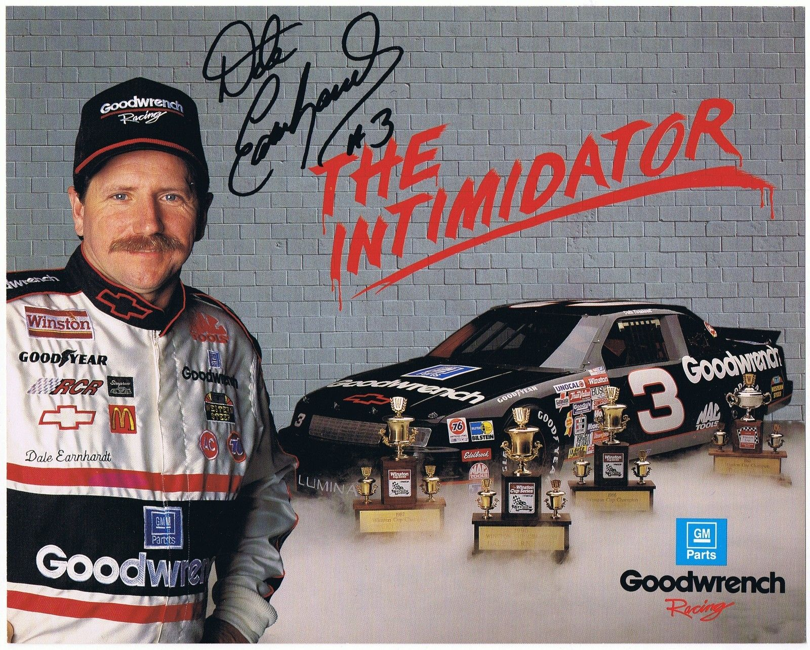 16 Best Dale Earnhardt Sr 3 Images On Pinterest: Signed Dale Earnhardt Sr The Intimidator GM Goodwrench