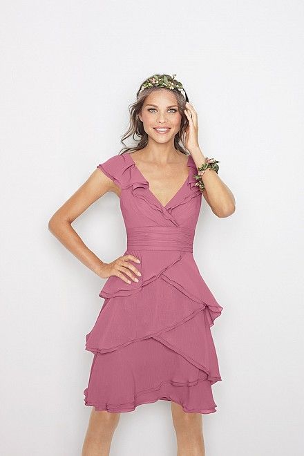 Bridesmaid dress? Seems like it would be flattering on different body types.