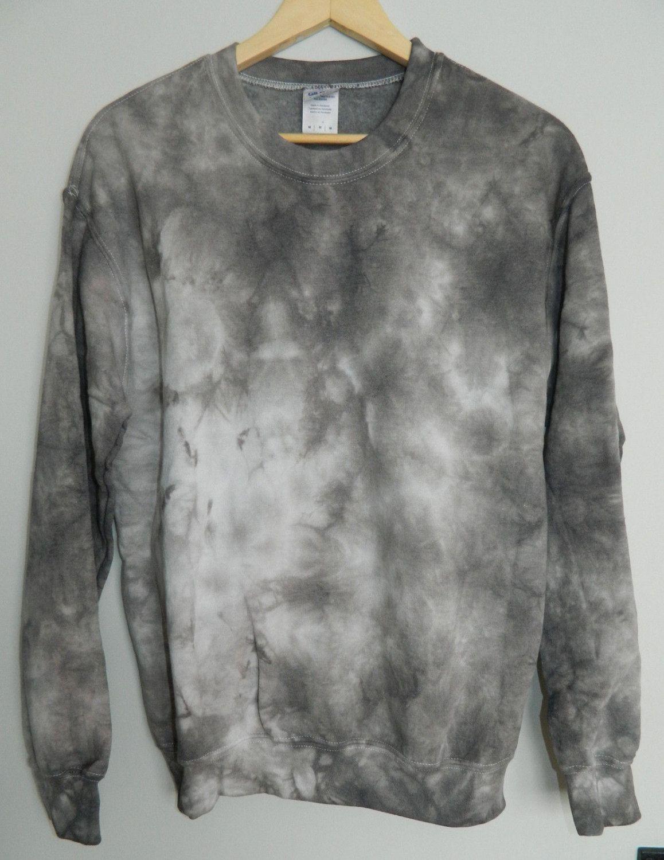 Charcoal Grey Bleach Sweatshirt Hand Dyed Unisex Festival Jumper Acid Wash Rave Sweater PCMNod5QiZ