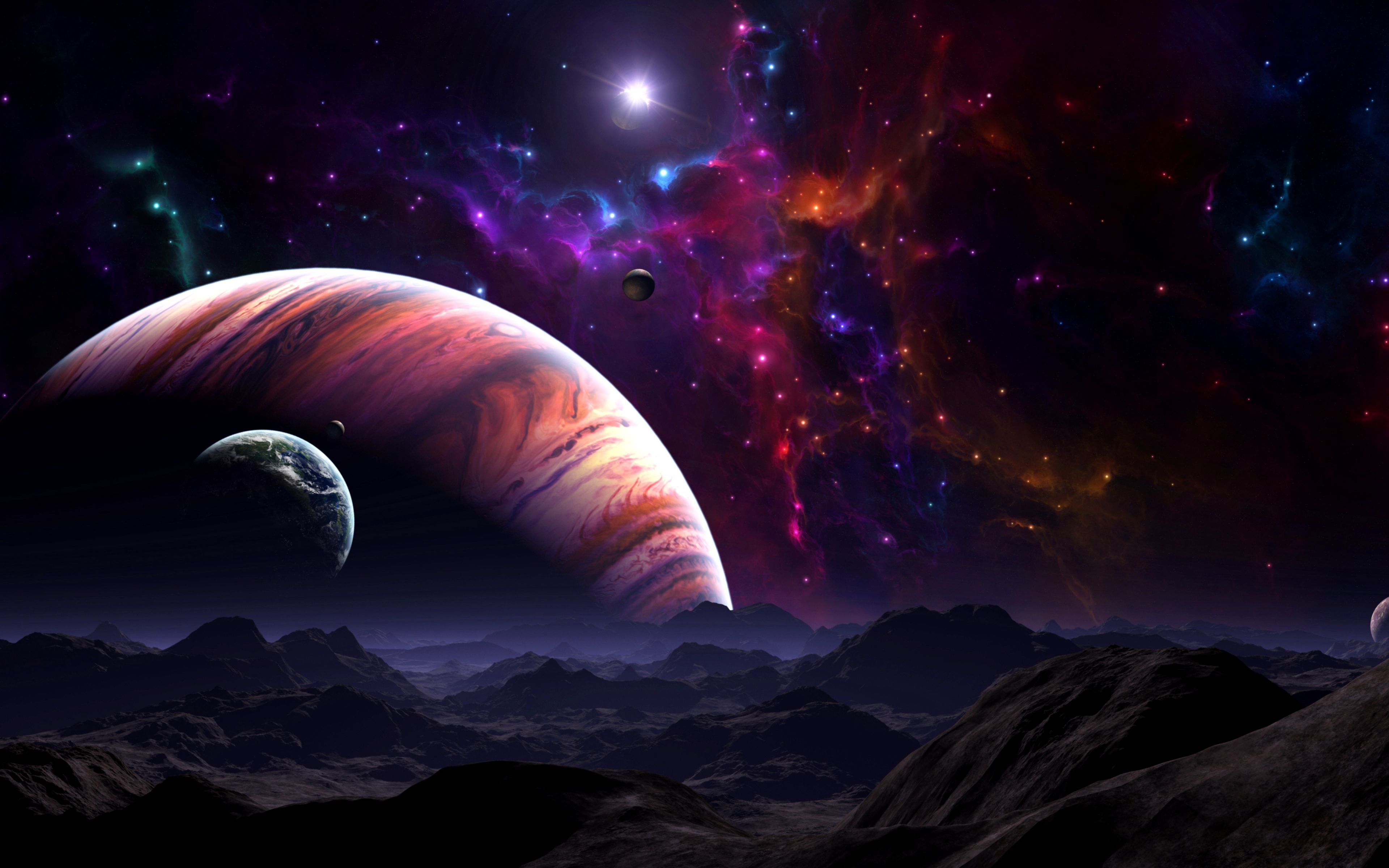 Space Landscape Wallpaper 4k Gallery Fondecranhiver Space Landscape Wallpaper 4k Gallery Planets Wallpaper Landscape Wallpaper Outer Space Wallpaper