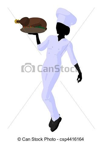 Woman Chef Clip Art | ... Female chef with a... csp4416164 ...