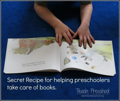The secret recipe for inviting children to take care of books in the preschool classroom - -