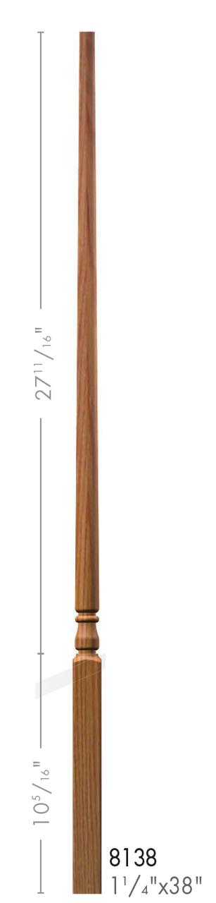 Best 8138 Colonial Style Pin Top Baluster Wood Balusters 400 x 300