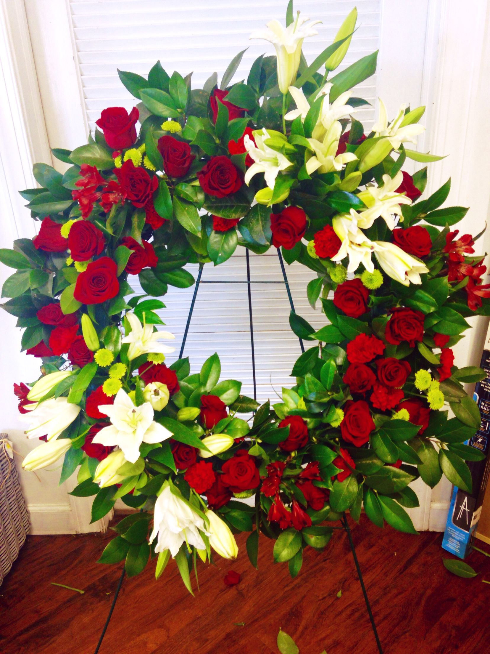 Open wreath by colonial house of flowers at joiner anderson funeral open wreath by colonial house of flowers at joiner anderson funeral home izmirmasajfo Choice Image