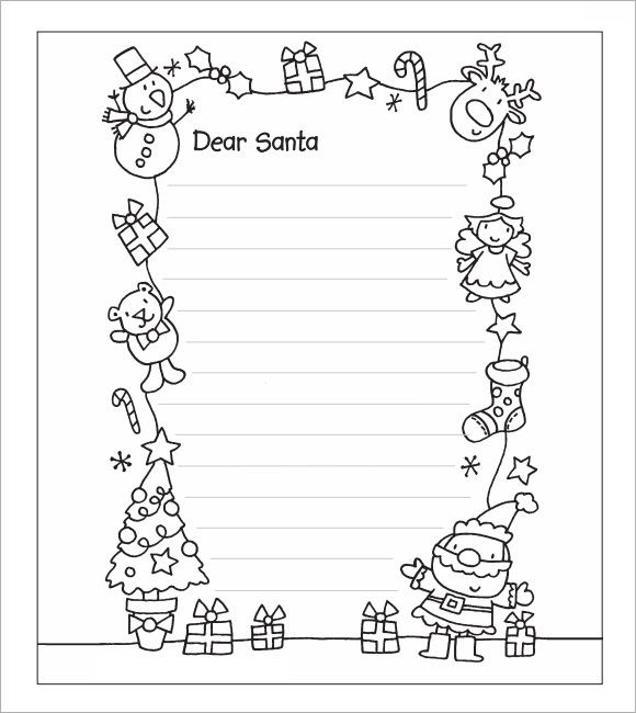 Template For A Letter To Santa Template Guide