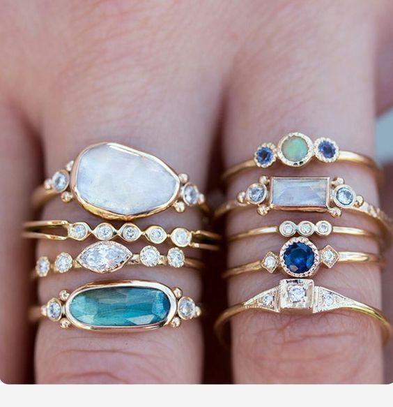 14k Engagement Ring for weddings   How to wear rings ...