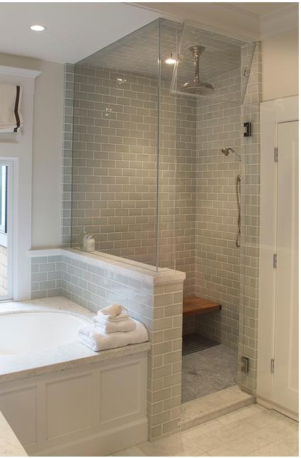 Shower Beside Tub New Bathroom In 2019 Bathroom Shower Tub