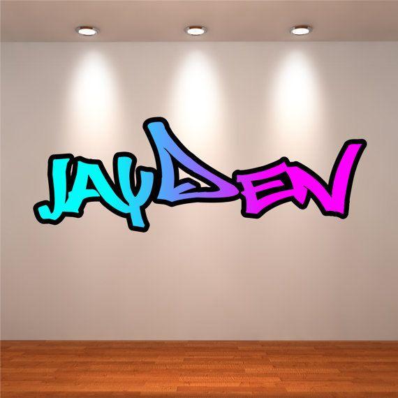 Graffiti Custom Name Wall Decal Vinyl Sticker Letter