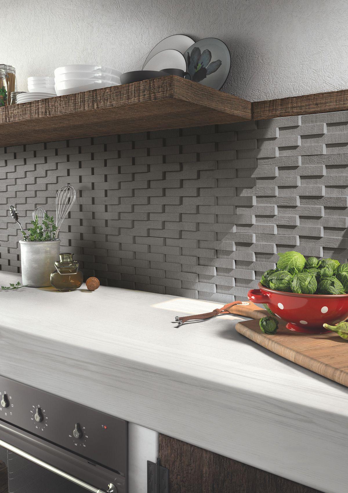 Carrelage Effet Beton Cuisine décor crédence de cuisine 3d effet béton de la série