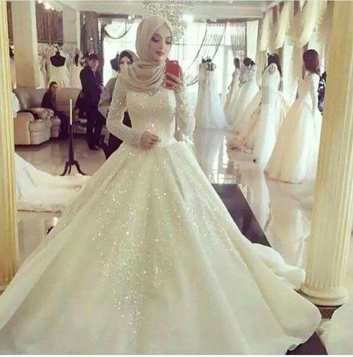 Pin by Sherein Younis on Hijab-ista | Pinterest | Wedding dress ...