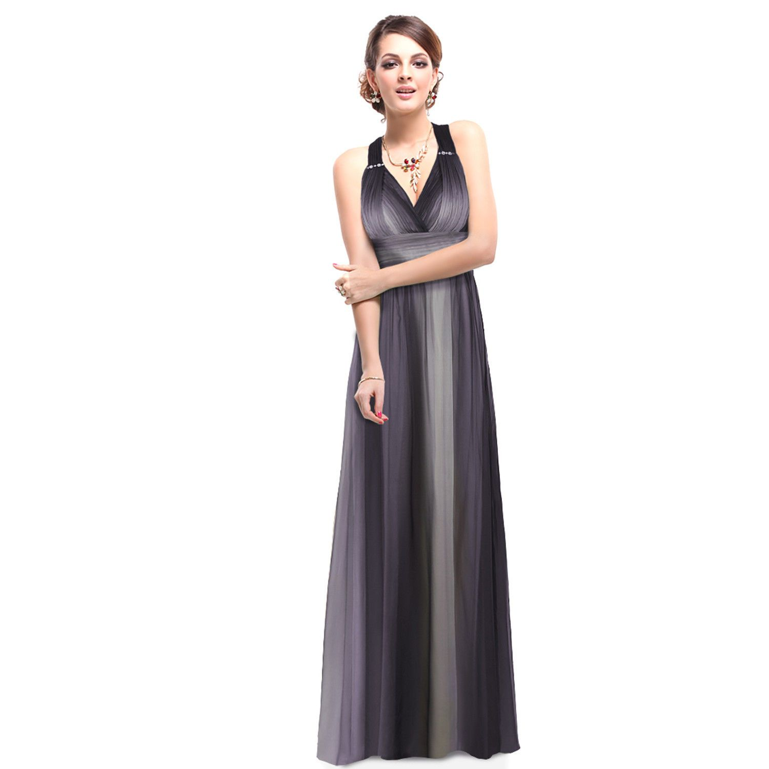 Nice ever pretty black long evening formal party prom dresses