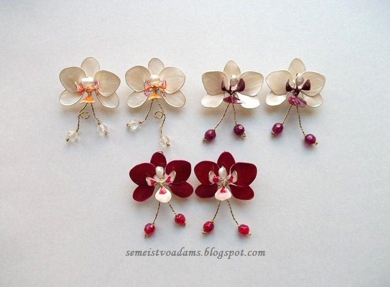 PDF-Anleitung Teil 1 (Wie man aus Draht und Nagellack eine Orchidee macht)   – Nail polish wire jewelry by semeistvoadams.blogspot.com