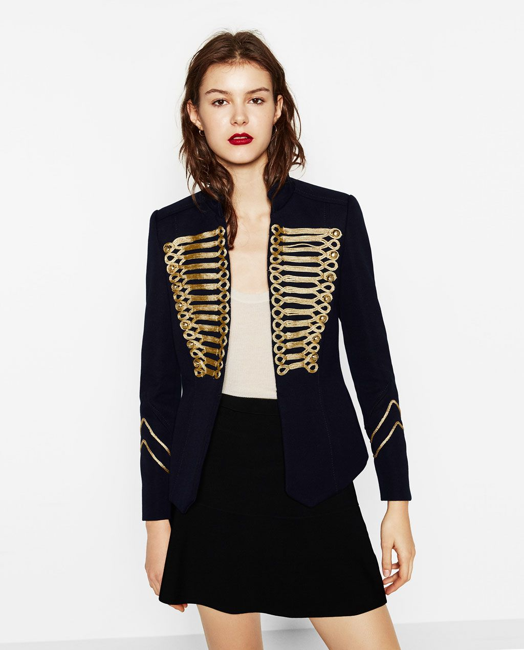 ZARA - WOMAN - JACKET WITH TOGGLES a328dccc7f37
