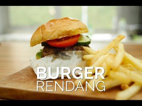 Resep Akhir Pekan Spesial Burger Rendang Youtube Resep Makanan Makanan Dan Minuman Makanan