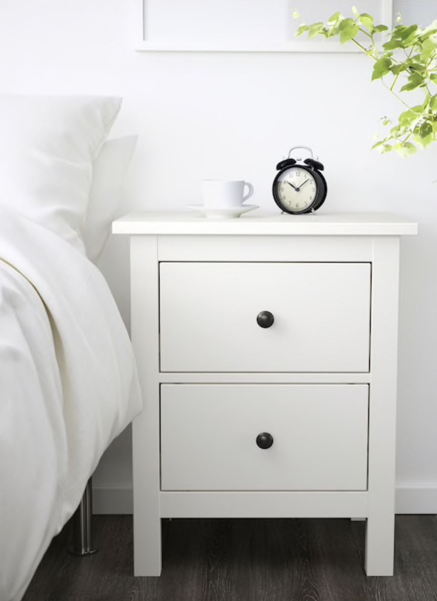"white 21 1//4x26 /"" NEW HEMNES 2-drawer chest"
