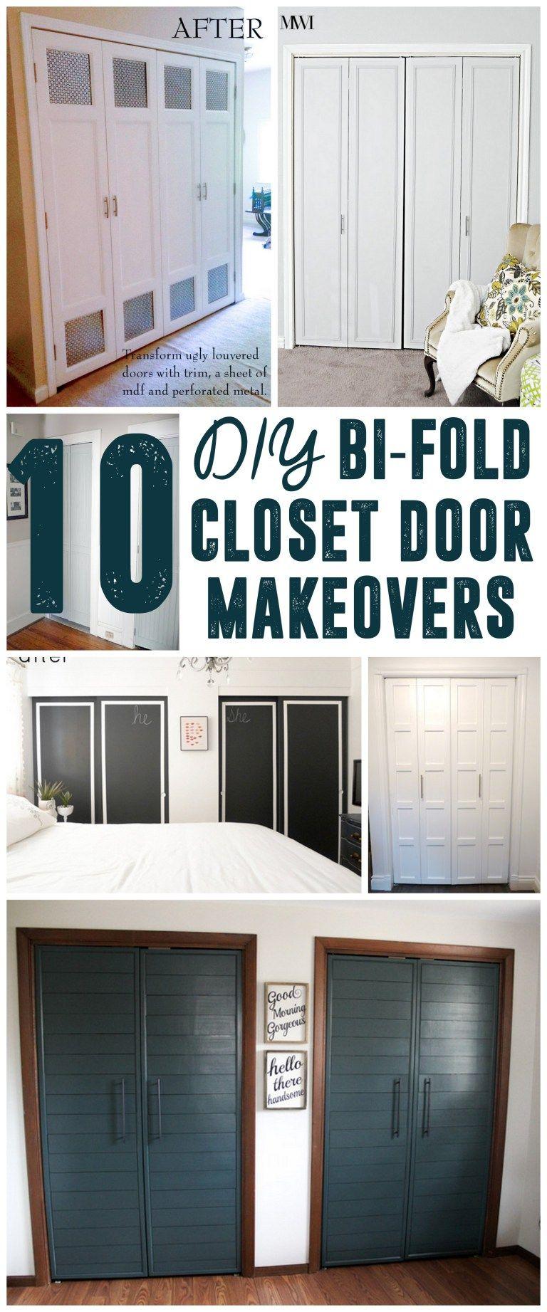 Diy Bi Fold Closet Door Makeovers Closet Doors Doors