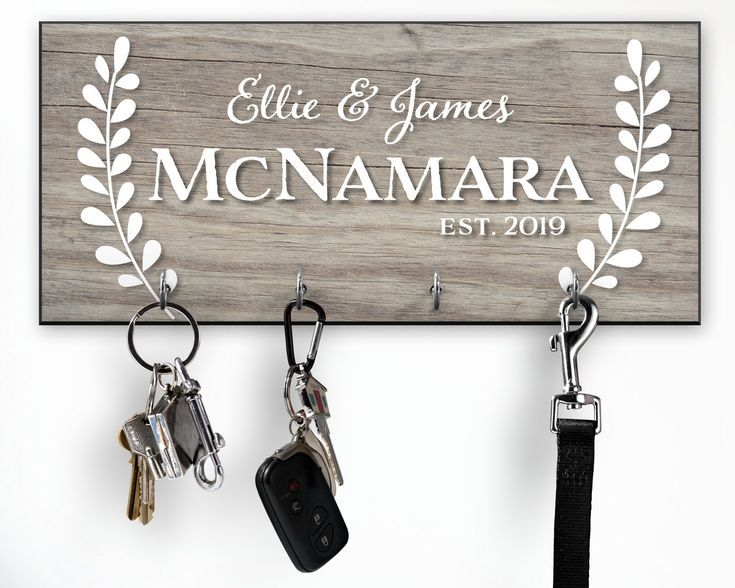 Personalized Key Holder For Wall Custom Wedding Gift Personalized Key Holder Wall Key Holder Key Holder