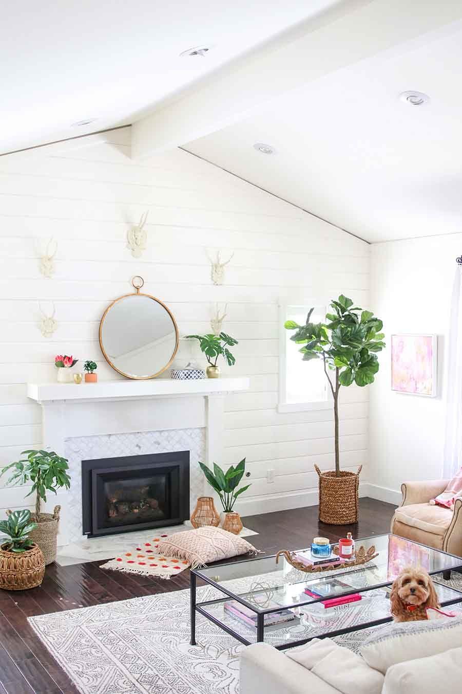 Boho Glam Spring Living Room Spring Decorating