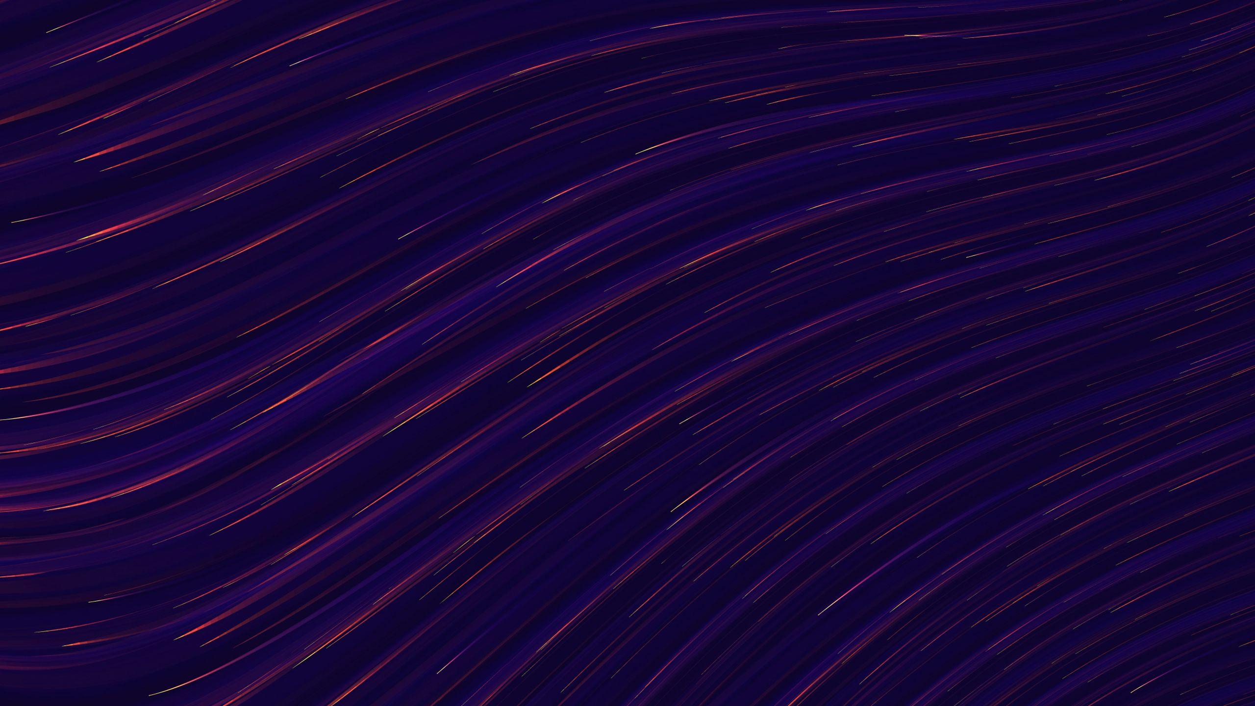 Downaload Cobalt Blue Waves Dark Digital Art Wallpaper For Screen 2560x1440 Dual Wide Widescreen 169