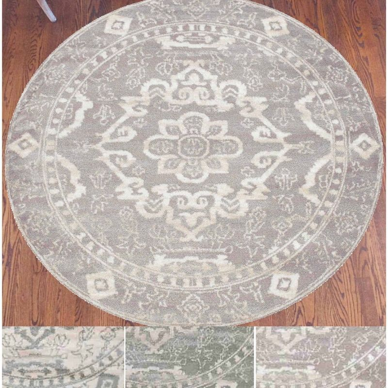 Round Gray Area Rug Home Goods: Free Shipping on orders over $45 at Overstock.com - Your Home Goods Store! Get 5% in rewards with Club O!