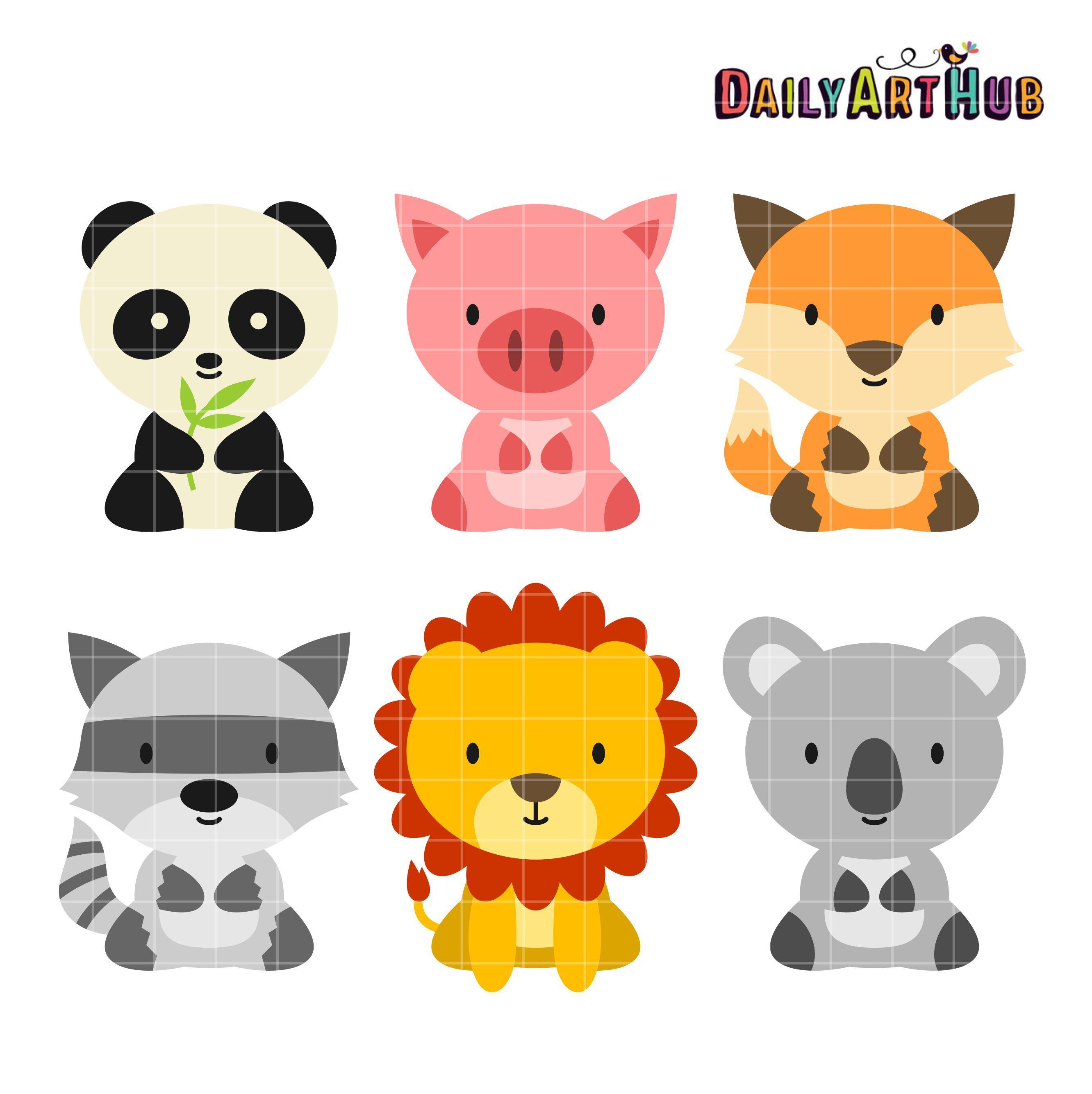 Free Baby Animals Clip Art Set Animal Clipart Clip Art Elephant Clip Art