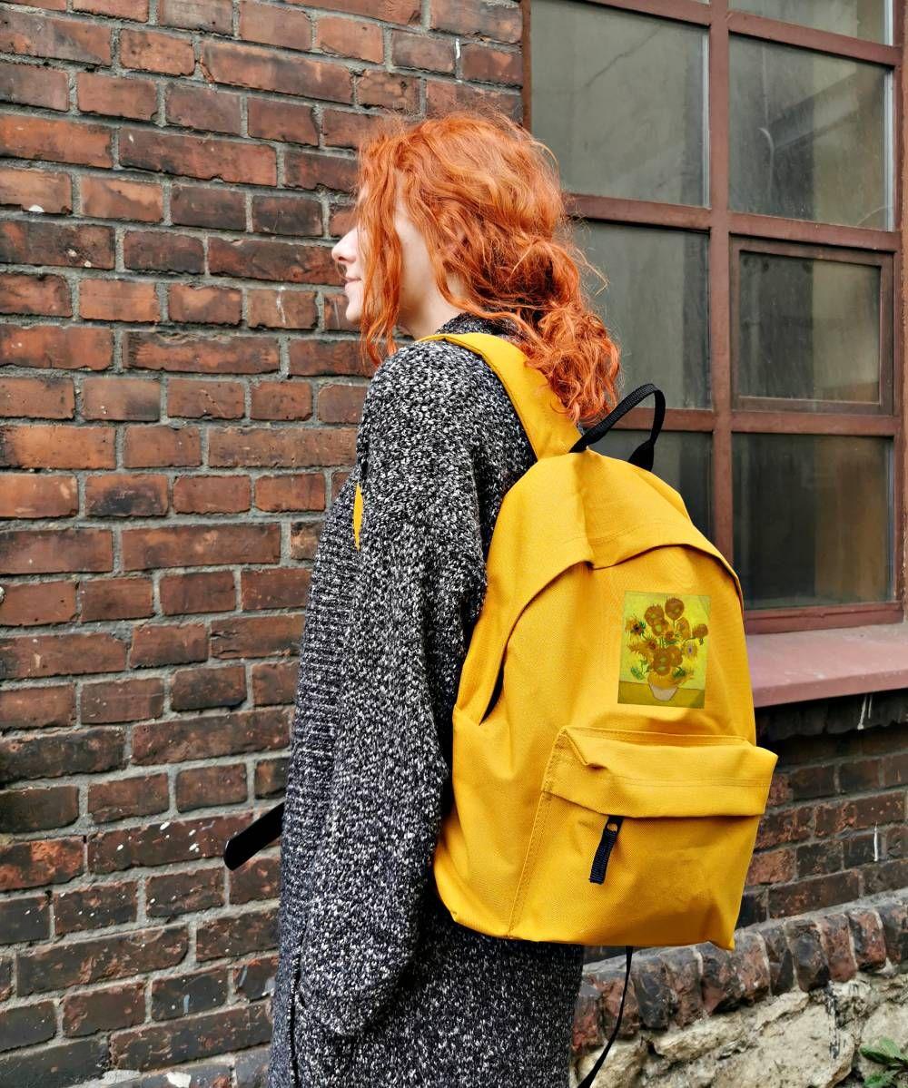Plecak Szkolny A4 Sloneczniki Van Gogh A Art Duzy Fashion Backpack Fjallraven Kanken Backpack Backpacks