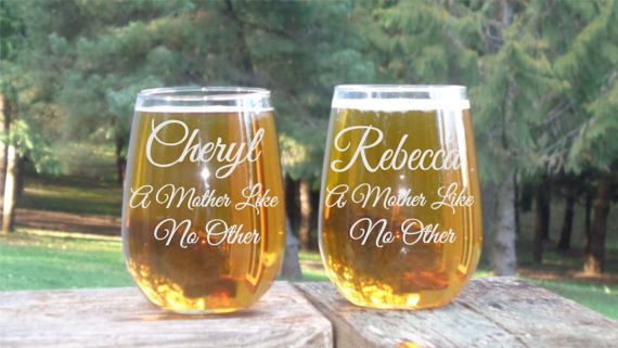Check out this item in my Etsy shop https://www.etsy.com/listing/507213564/personalized-mothers-day-glass-mom-and
