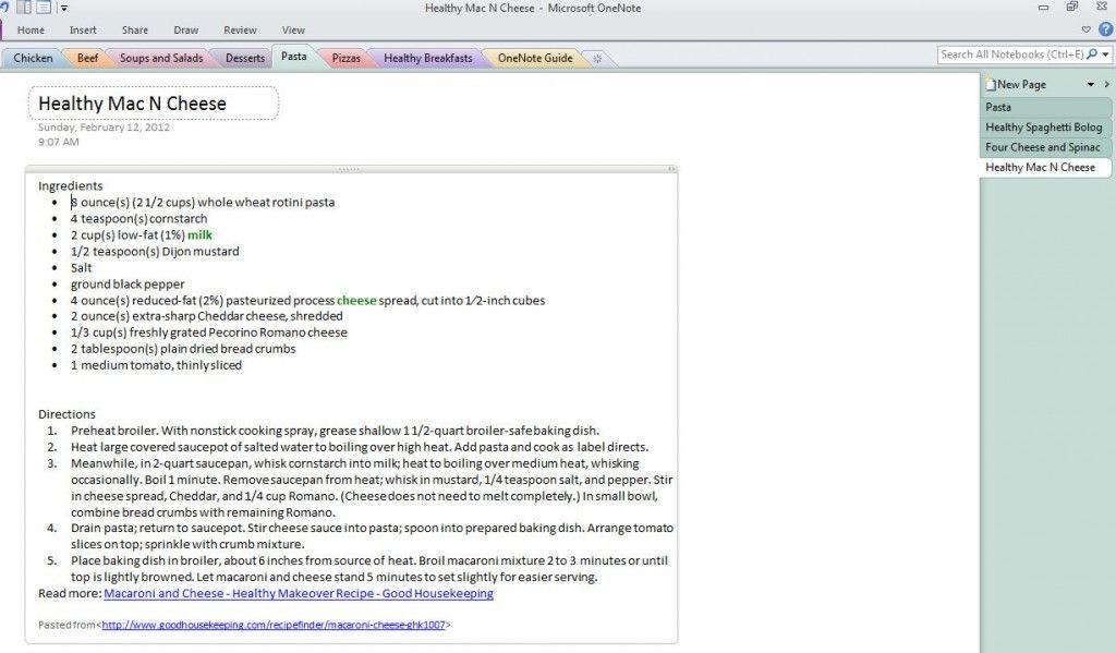 Organize Recipes with Microsoft OneNote Recipe Book Review #Free - microsoft word memo template