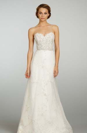 Bridal Gowns Lazaro A Line Wedding Dress With Sweetheart Neckline And Natural Waist Waistline