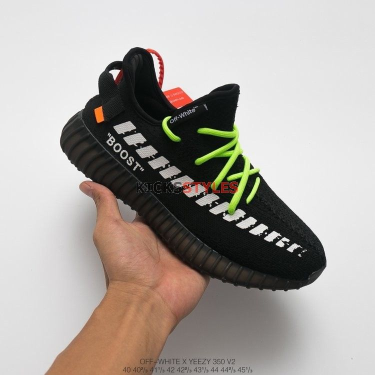 f4aeb58f6e7fc Custom Yeezy Boost 350 V2 Off-White Black Diagonal Arrows Logo