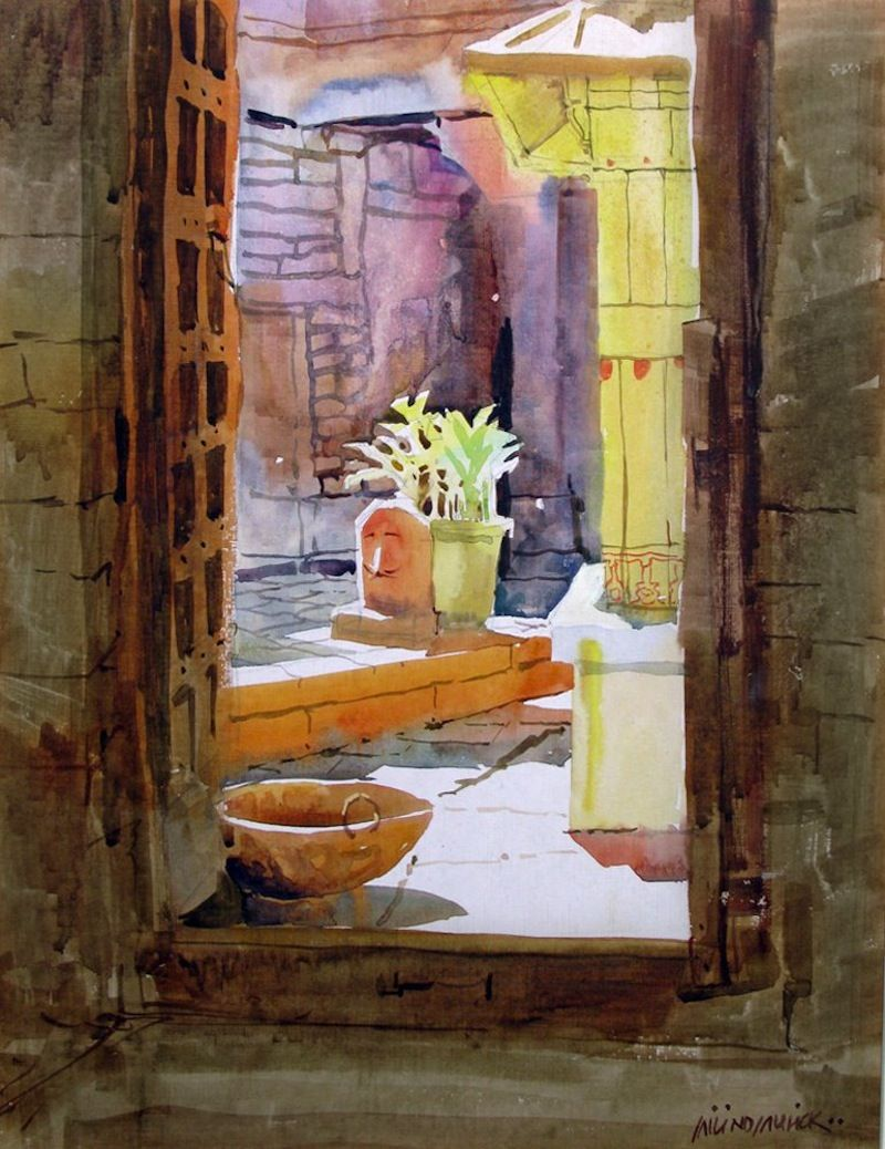 Milind Mulick S Watercolours Painting Watercolor Paintings